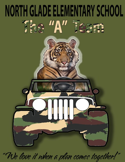 Tiger driving a jeep